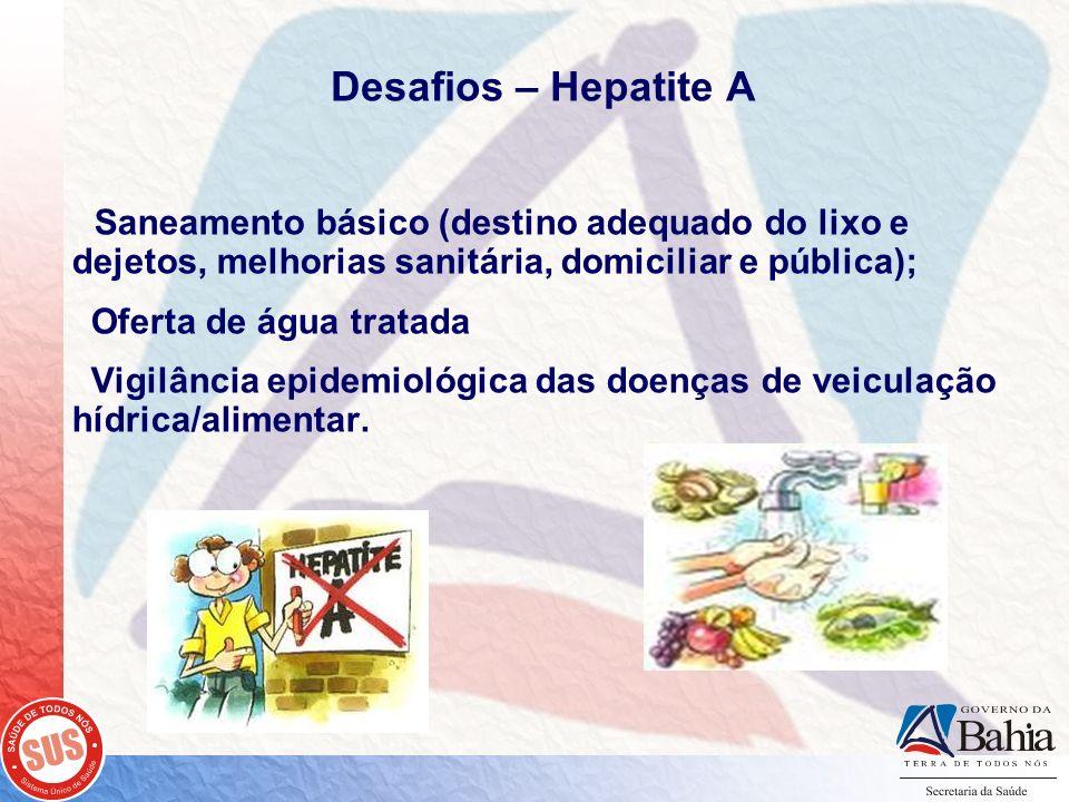 Desafios – Hepatite A