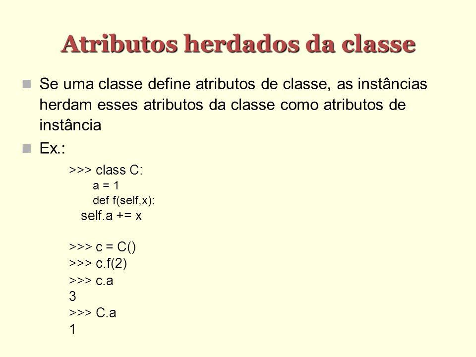 Atributos herdados da classe