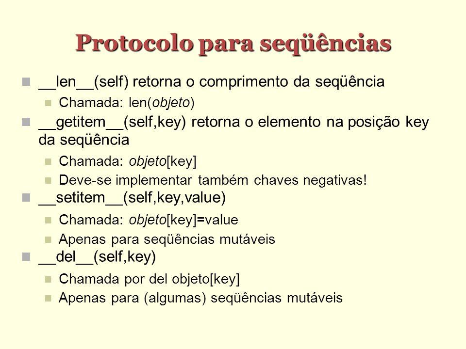 Protocolo para seqüências