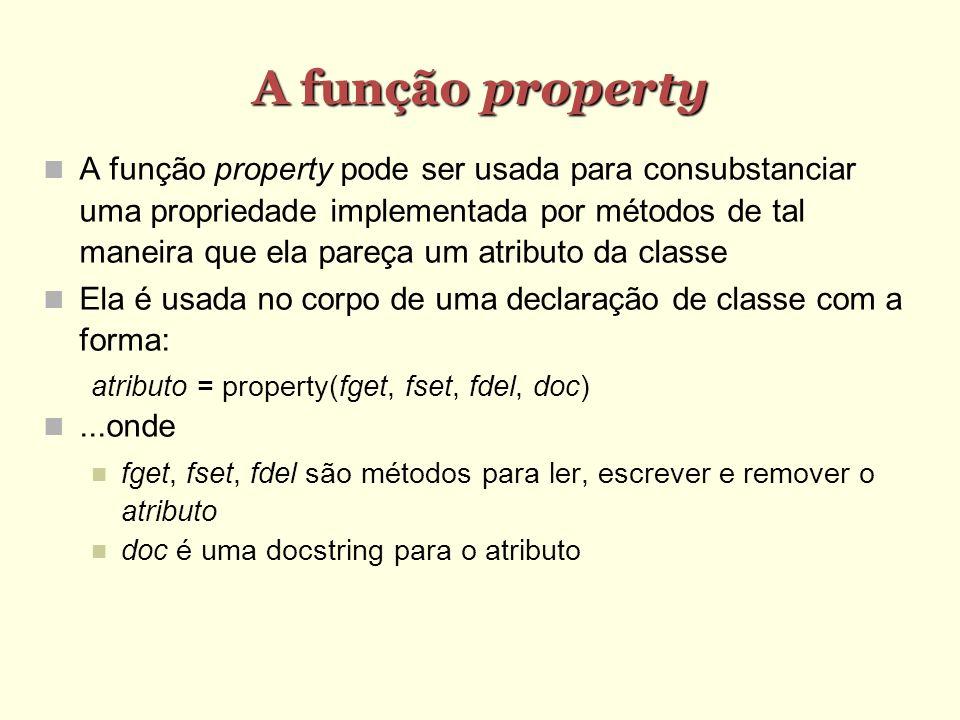 A função property