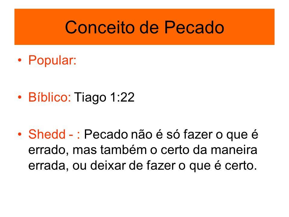 Conceito de Pecado Popular: Bíblico: Tiago 1:22