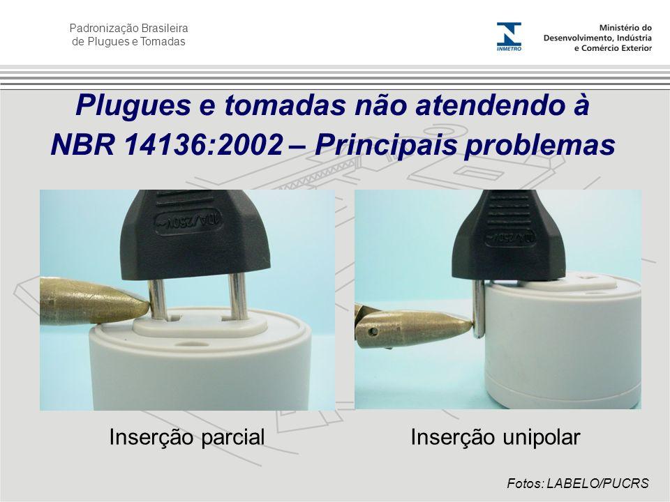 Plugues e tomadas não atendendo à NBR 14136:2002 – Principais problemas