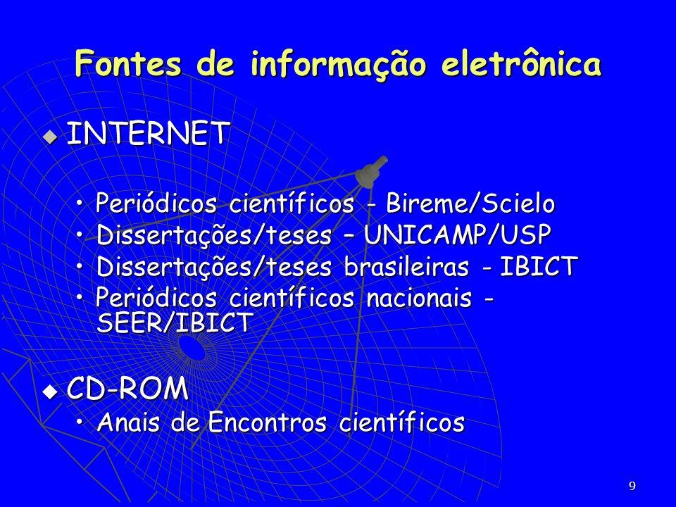 Fontes de informação eletrônica