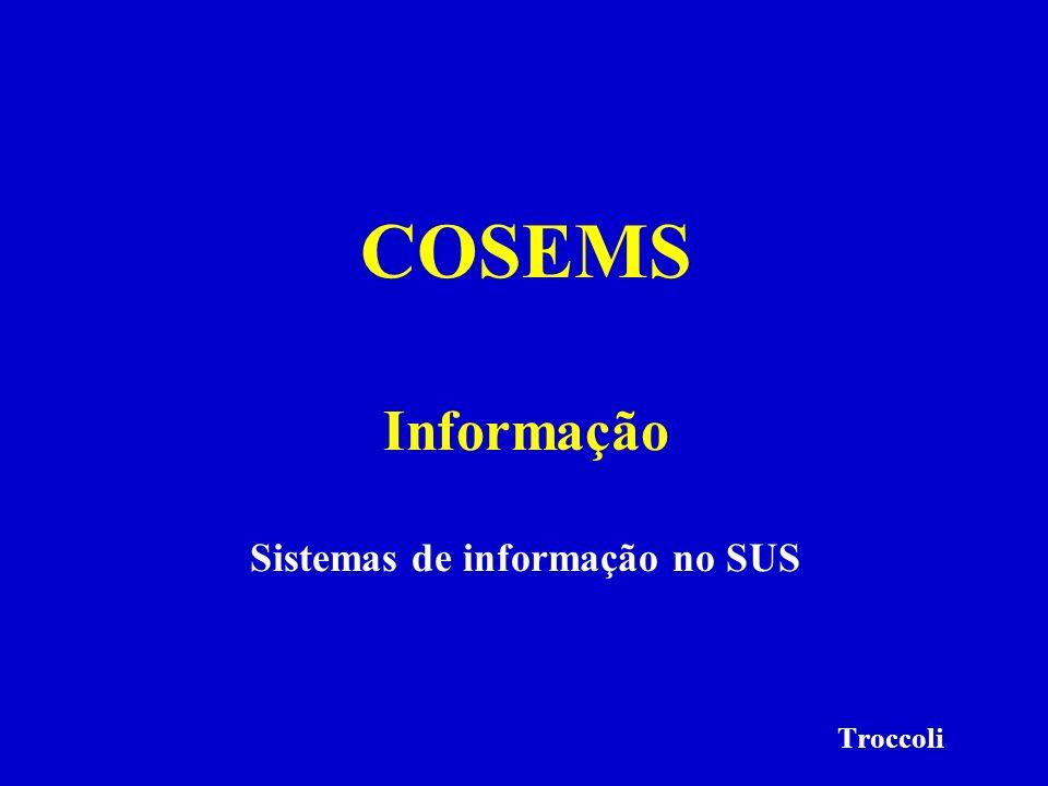 Sistemas de informação no SUS