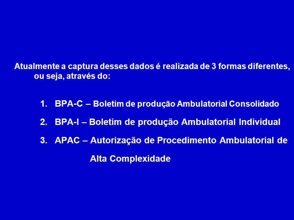 BPA-C – Boletim de produção Ambulatorial Consolidado