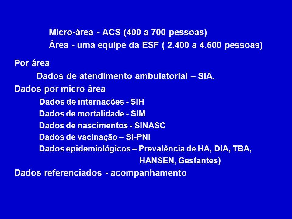 Micro-área - ACS (400 a 700 pessoas)