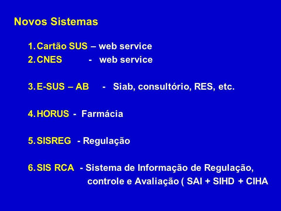 Novos Sistemas Cartão SUS – web service CNES - web service