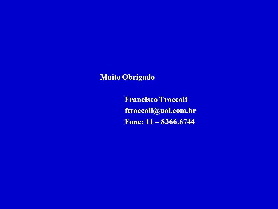 Francisco Troccoli ftroccoli@uol.com.br Fone: 11 – 8366.6744
