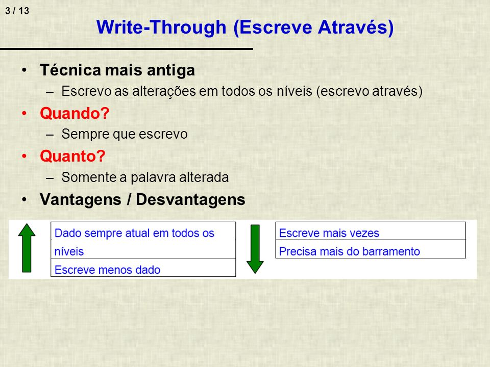 Write-Through (Escreve Através)