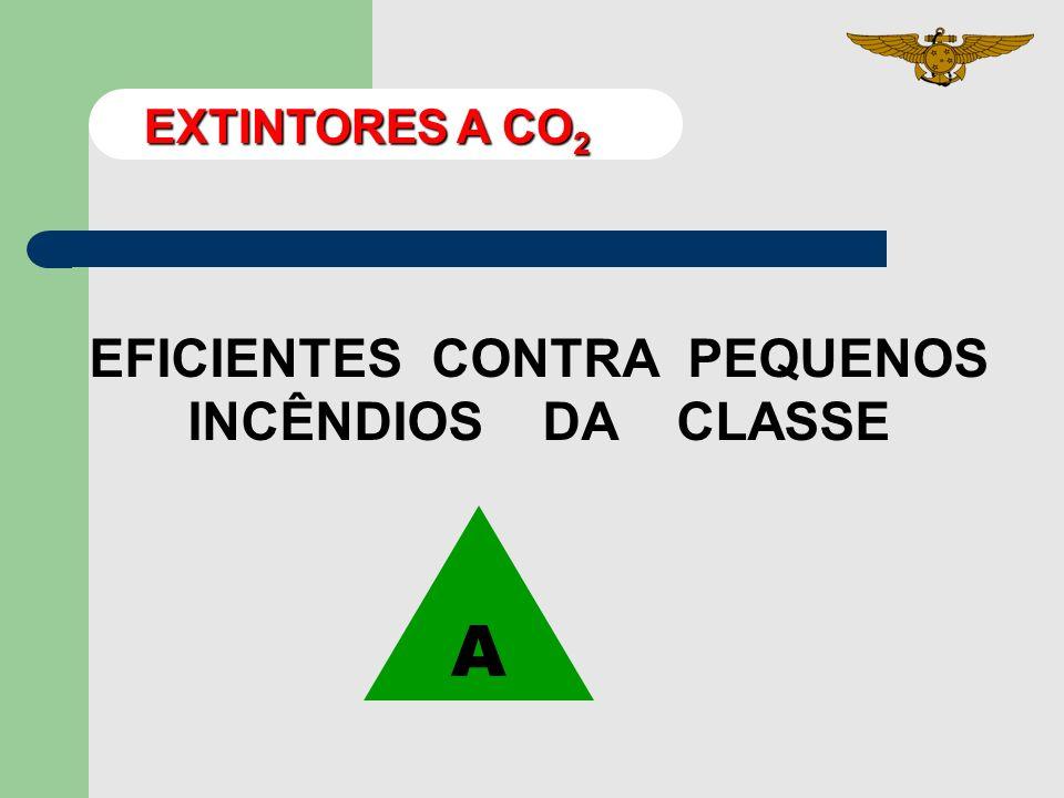 EFICIENTES CONTRA PEQUENOS INCÊNDIOS DA CLASSE