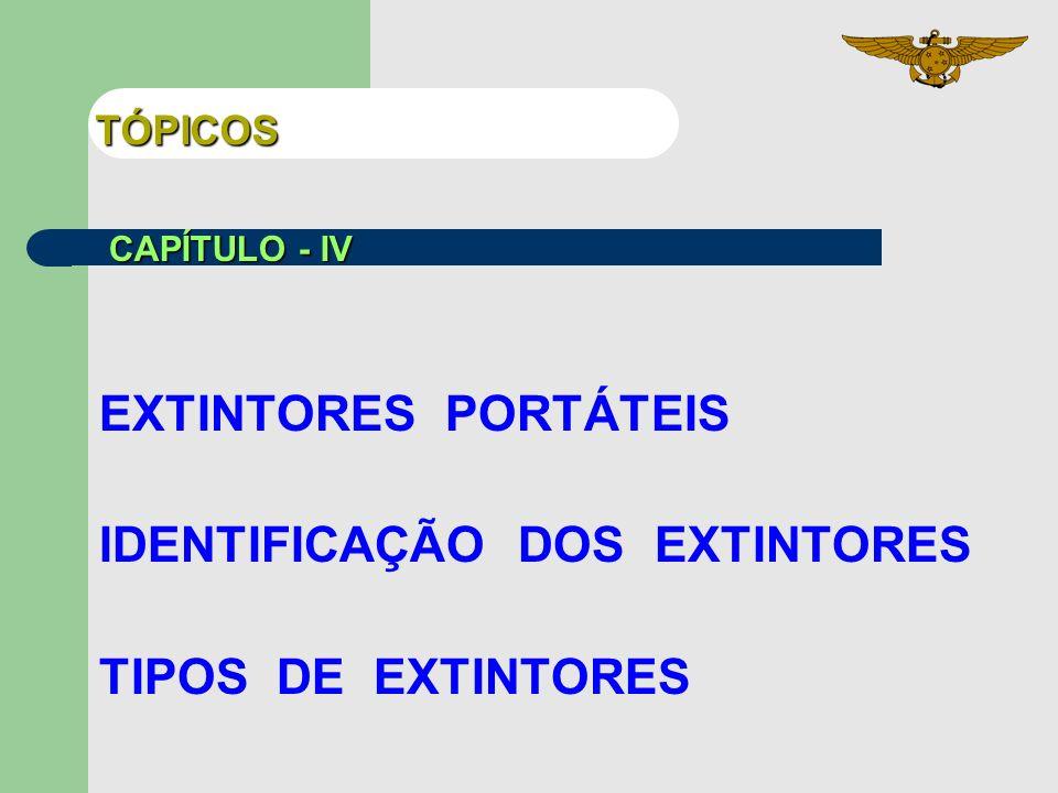 IDENTIFICAÇÃO DOS EXTINTORES TIPOS DE EXTINTORES