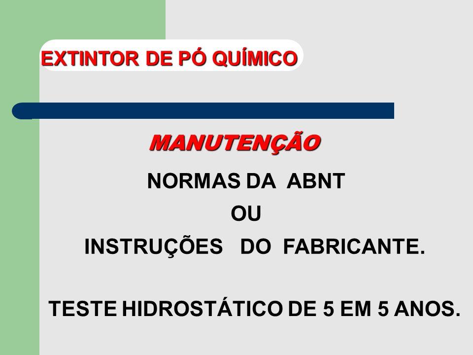 INSTRUÇÕES DO FABRICANTE.