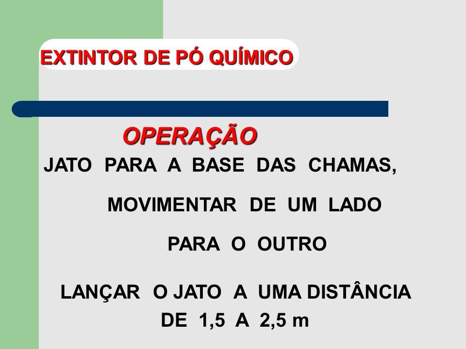 LANÇAR O JATO A UMA DISTÂNCIA DE 1,5 A 2,5 m