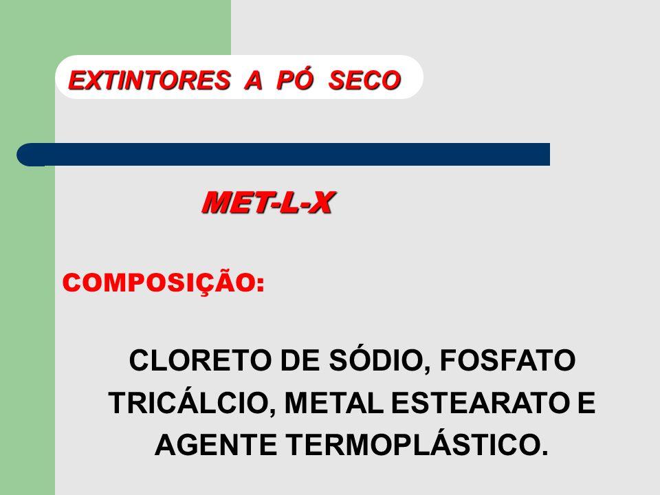 EXTINTORES A PÓ SECO MET-L-X.