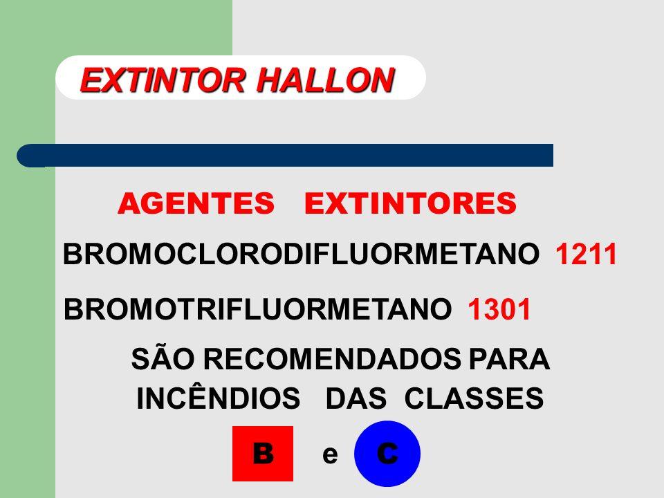 EXTINTOR HALLON AGENTES EXTINTORES BROMOCLORODIFLUORMETANO 1211