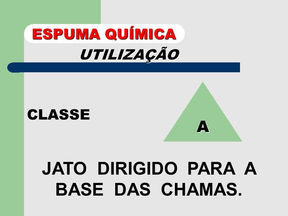 JATO DIRIGIDO PARA A BASE DAS CHAMAS.