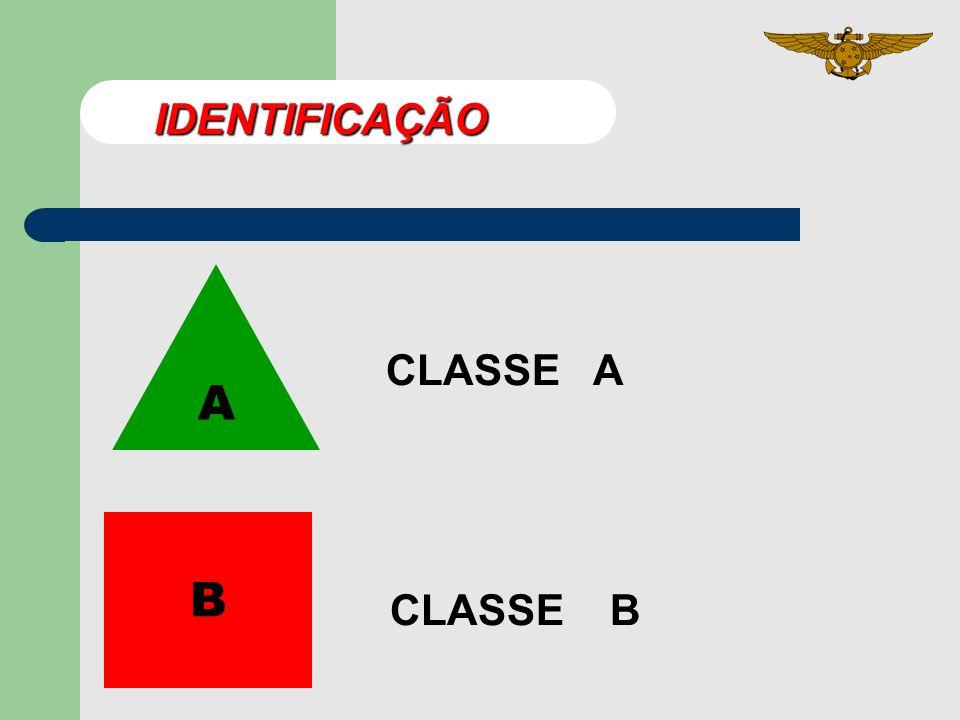 IDENTIFICAÇÃO CLASSE A A B CLASSE B