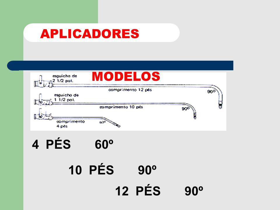 APLICADORES MODELOS 4 PÉS 60º 10 PÉS 90º 12 PÉS 90º