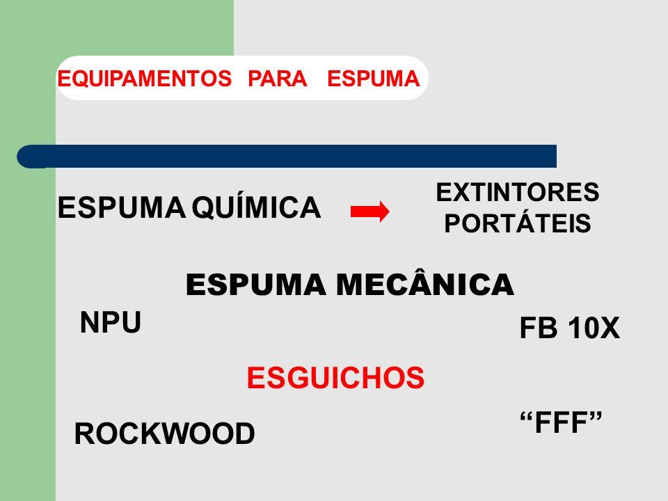 ESPUMA QUÍMICA ESPUMA MECÂNICA NPU FB 10X ESGUICHOS FFF ROCKWOOD