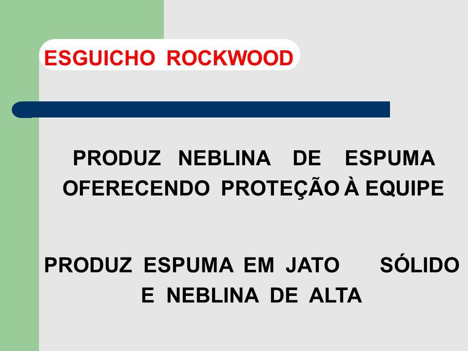 PRODUZ NEBLINA DE ESPUMA OFERECENDO PROTEÇÃO À EQUIPE