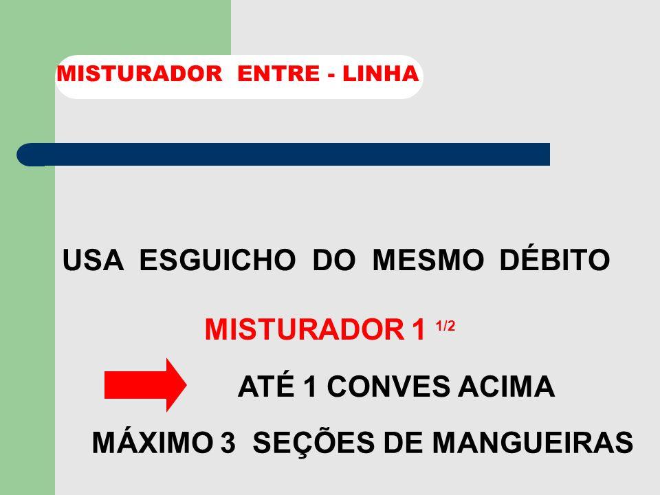 MÁXIMO 3 SEÇÕES DE MANGUEIRAS
