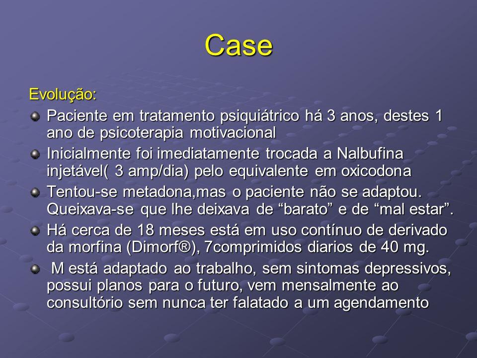 Case Evolução: Paciente em tratamento psiquiátrico há 3 anos, destes 1 ano de psicoterapia motivacional.