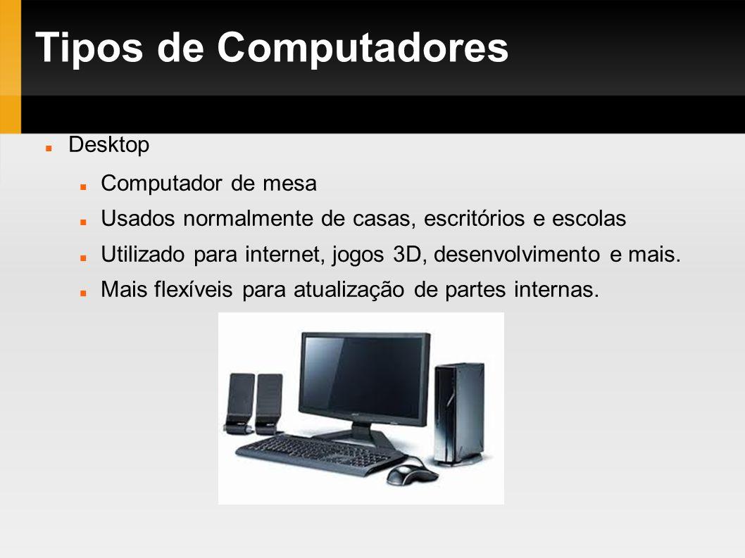 Tipos de Computadores Desktop Computador de mesa
