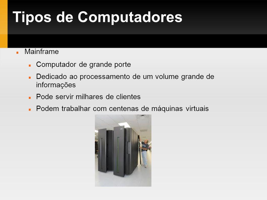 Tipos de Computadores Mainframe Computador de grande porte