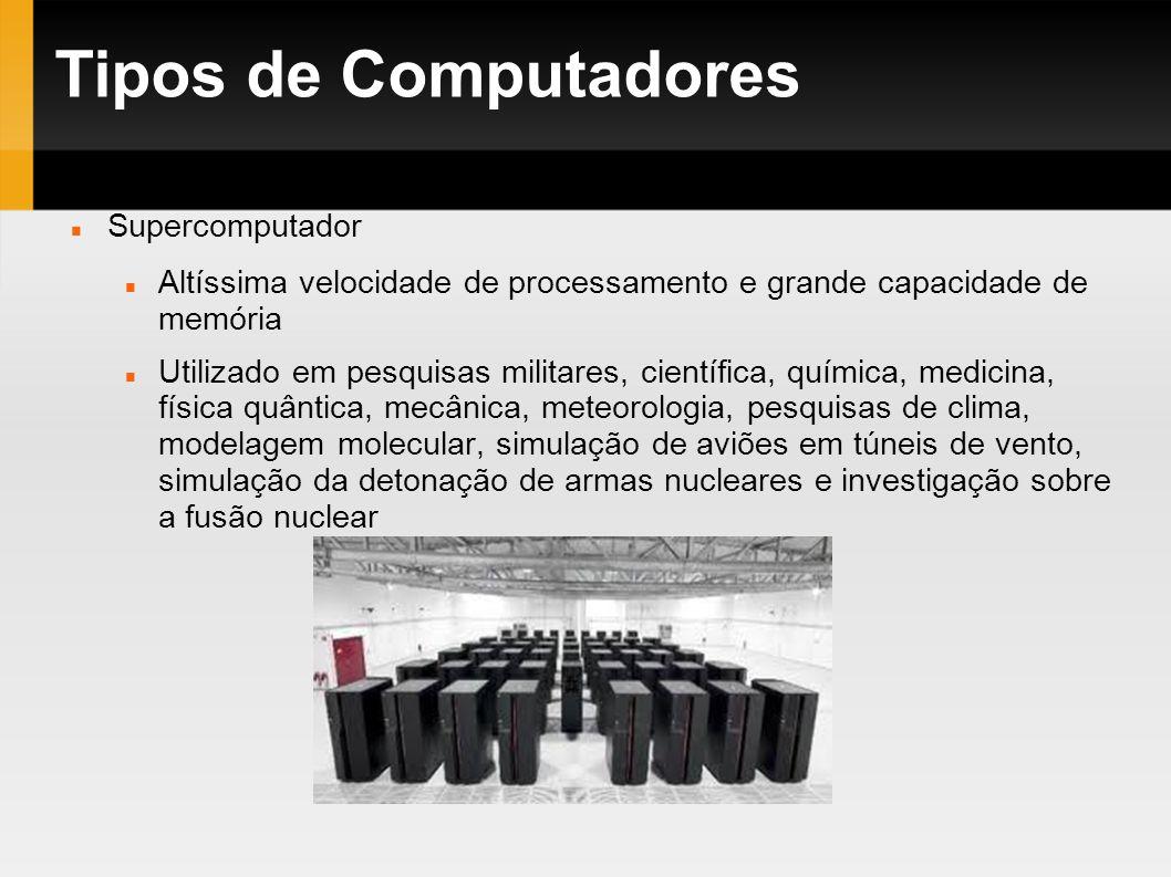 Tipos de Computadores Supercomputador