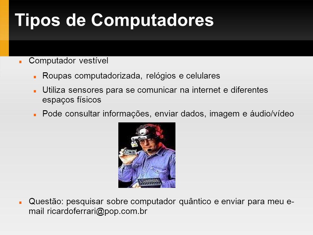 Tipos de Computadores Computador vestível