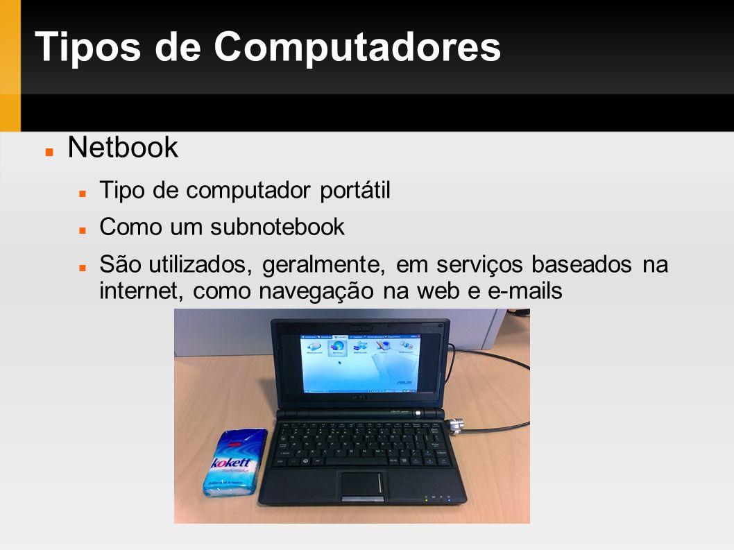 Tipos de Computadores Netbook Tipo de computador portátil