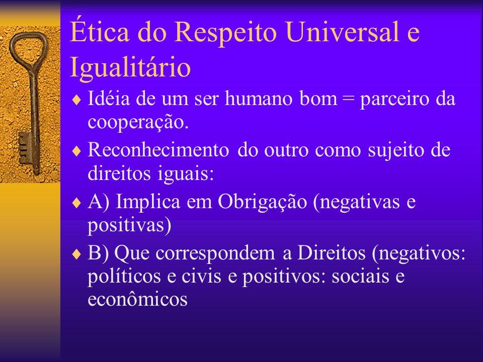 Ética do Respeito Universal e Igualitário