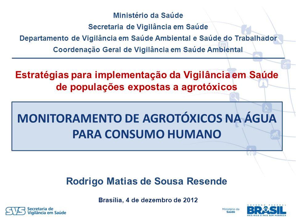 MONITORAMENTO DE AGROTÓXICOS NA ÁGUA PARA CONSUMO HUMANO