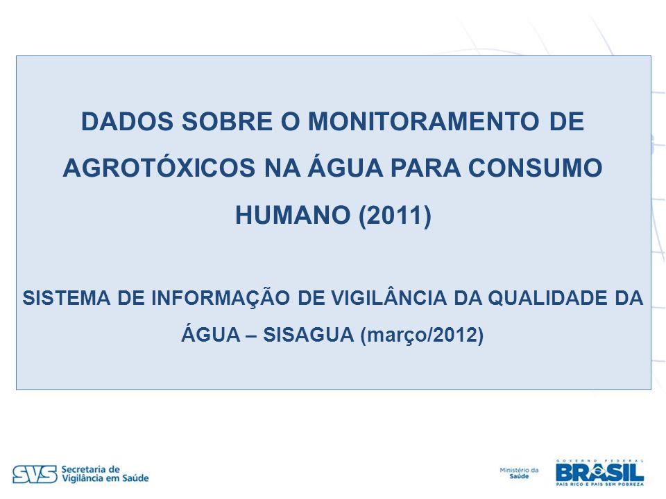 DADOS SOBRE O MONITORAMENTO DE AGROTÓXICOS NA ÁGUA PARA CONSUMO HUMANO (2011)
