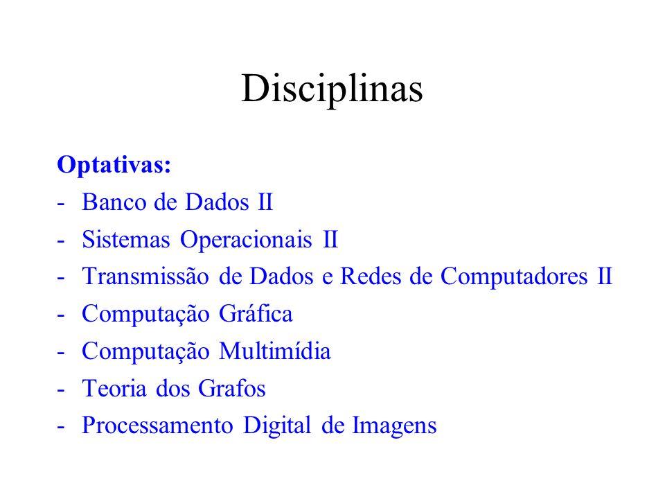 Disciplinas Optativas: Banco de Dados II Sistemas Operacionais II