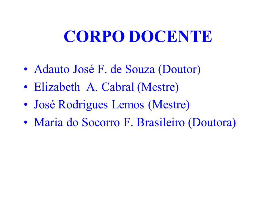 CORPO DOCENTE Adauto José F. de Souza (Doutor)