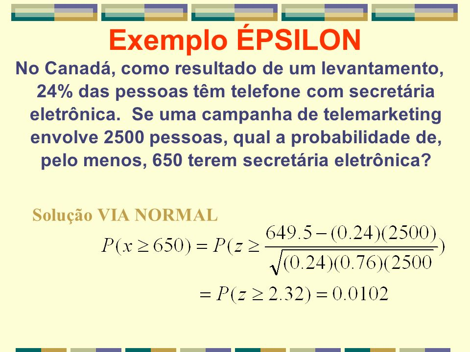 Exemplo ÉPSILON