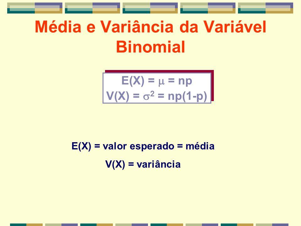 Média e Variância da Variável Binomial