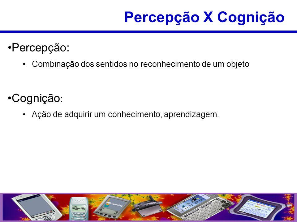 Percepção X Cognição Percepção: Cognição: