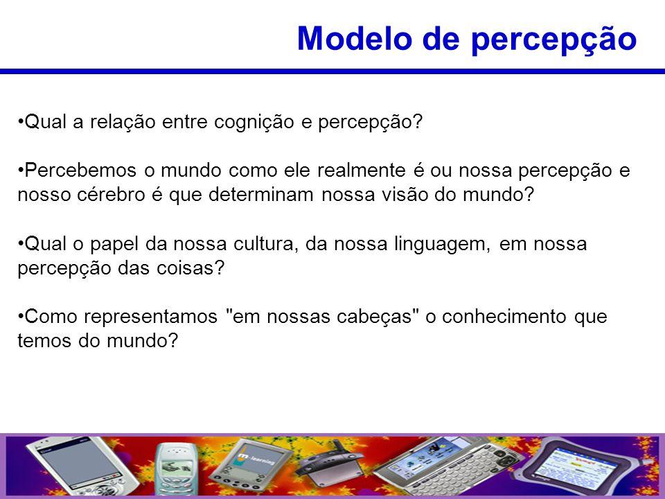 Modelo de percepção Qual a relação entre cognição e percepção