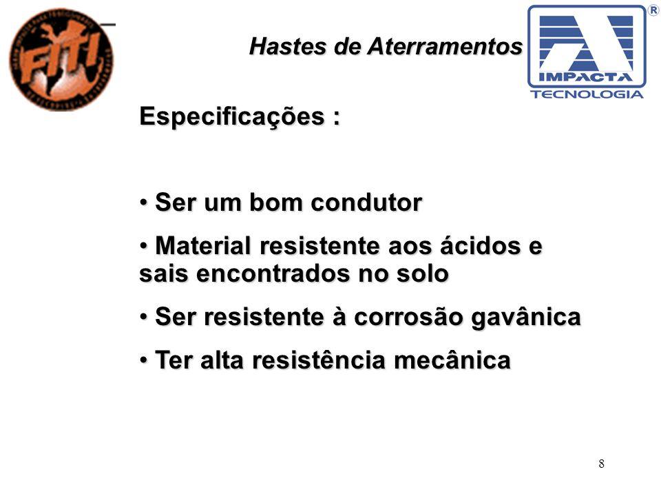 Material resistente aos ácidos e sais encontrados no solo