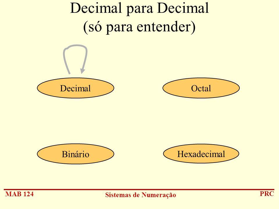 Decimal para Decimal (só para entender)