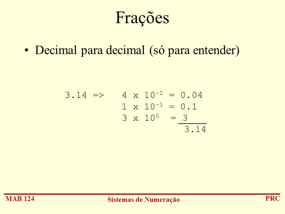 Frações Decimal para decimal (só para entender)