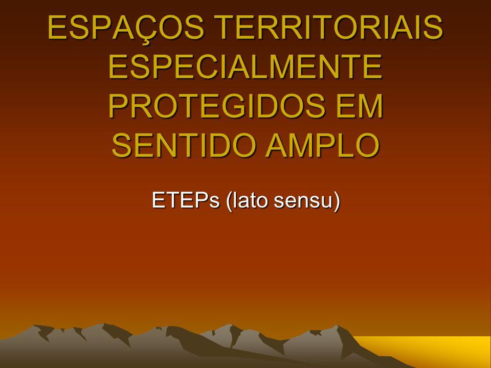 ESPAÇOS TERRITORIAIS ESPECIALMENTE PROTEGIDOS EM SENTIDO AMPLO
