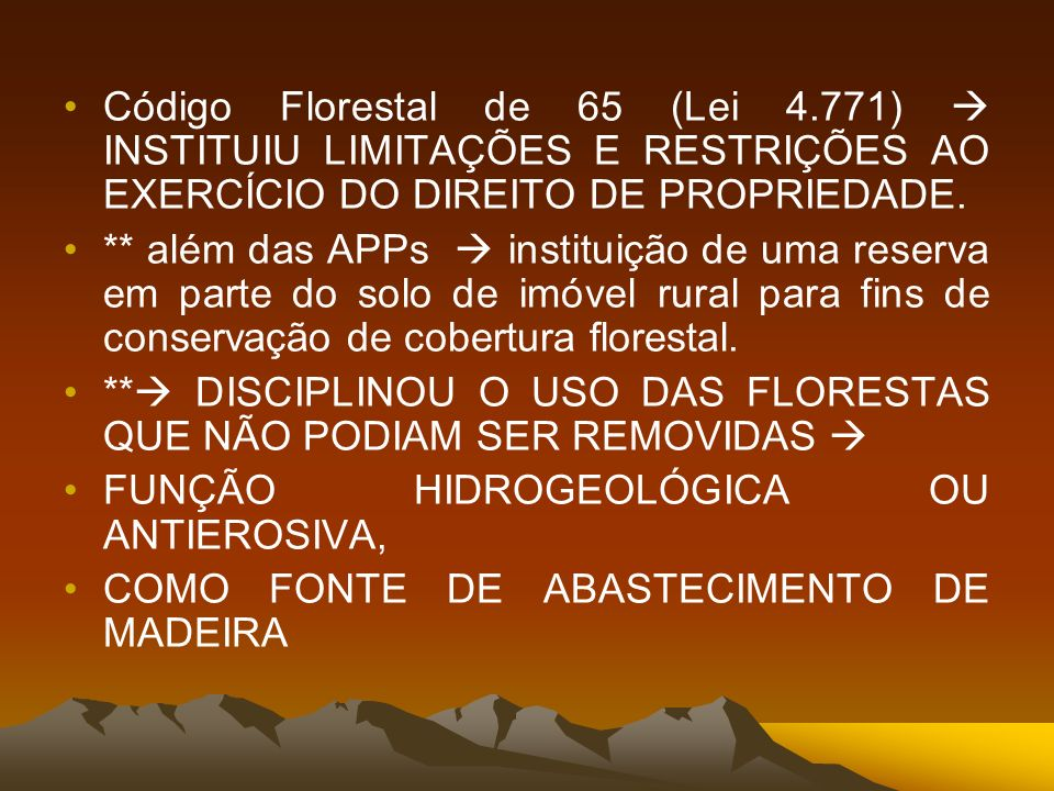 Código Florestal de 65 (Lei 4