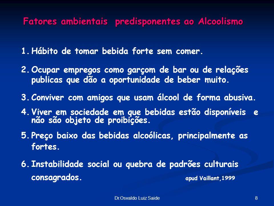 Fatores ambientais predisponentes ao Alcoolismo
