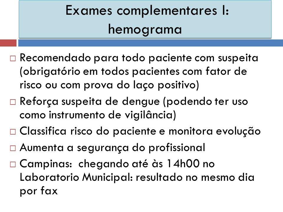 Exames complementares I: hemograma