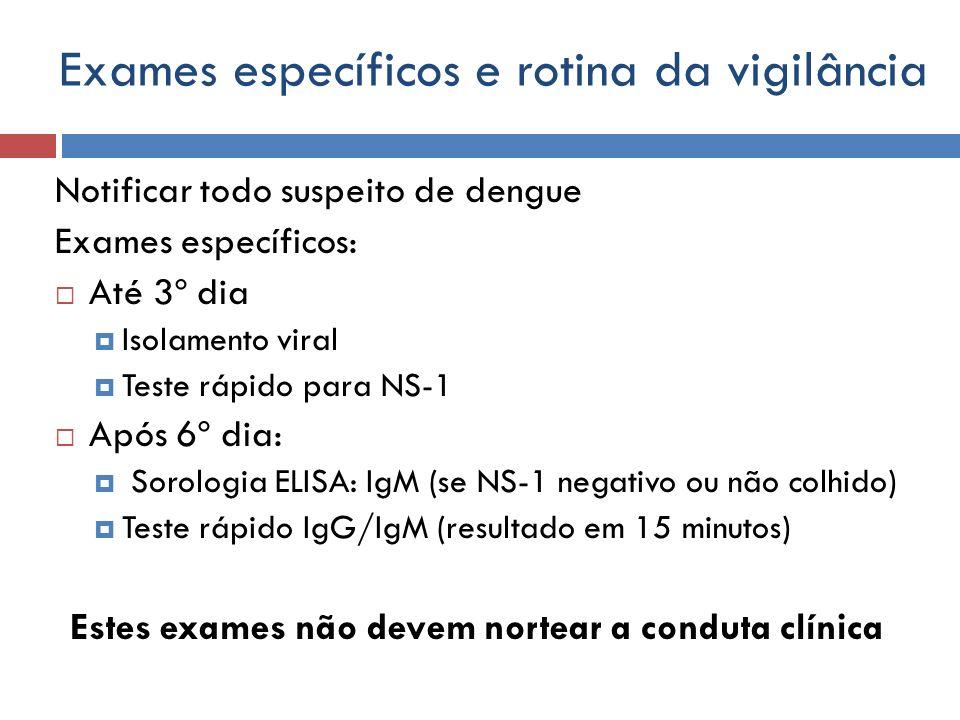 Exames específicos e rotina da vigilância