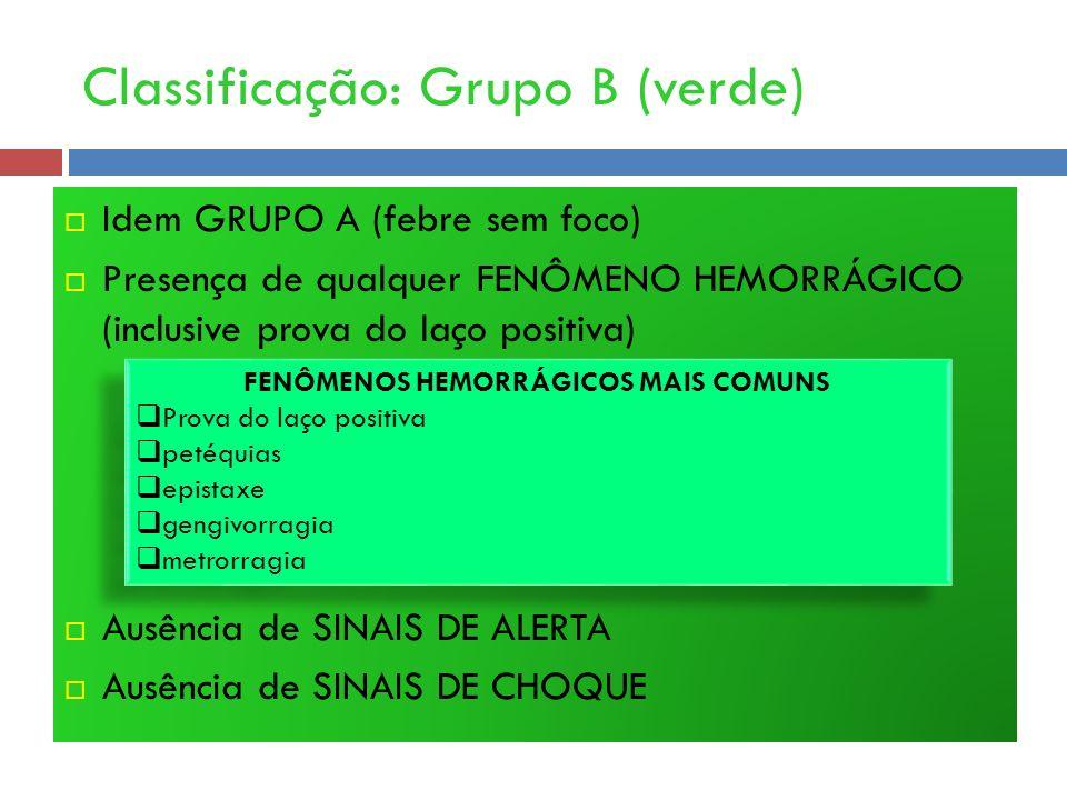Classificação: Grupo B (verde)