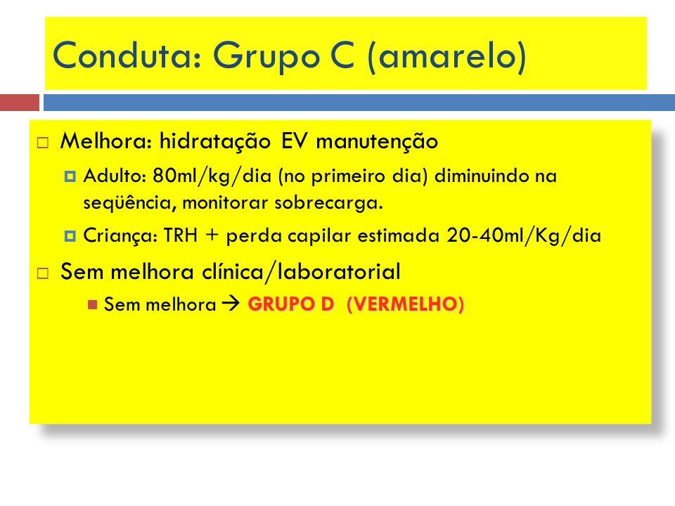 Conduta: Grupo C (amarelo)